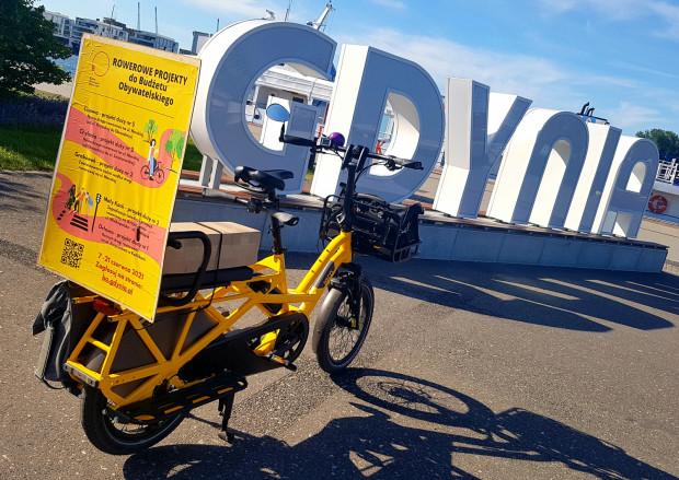 Przedstawiciele Rowerowej Gdyni nie ograniczają się do promocji w internecie. Swoje projekty prezentują także - a jakże - na rowerze.