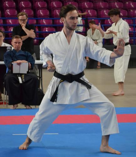 Podczas kata - czyli prezentacji bloków i ataków w odpowiedniej kolejności - ważny jest każdy detal ułożenia ciała. Na najwyższym poziomie o medalach decyduje np. ustawienie stopy podczas jednej z kilkudziesięciu kombinacji.