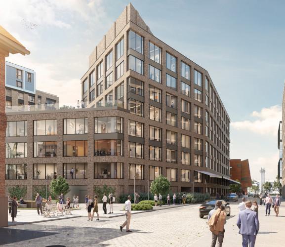 W kolejnym etapie inwestycji Żurawie powstanie budynek biurowy.
