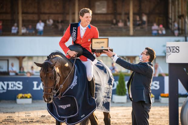 Brian Moggre był najlepszy podczas Grand Prix na CSIO 5* Sopot Horse Show 2021.