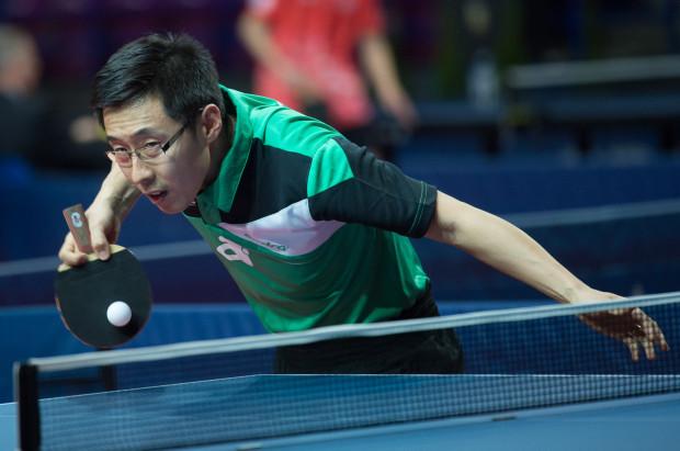 Wang Zengyi (na zdjęciu) zastąpi Patryka Chojnowskiego w roli lidera tenisistów stołowych AZS AWFiS Balta Gdańsk.