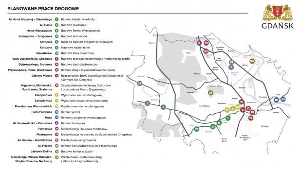 Planowane prace drogowe w wakacje 2021 r.