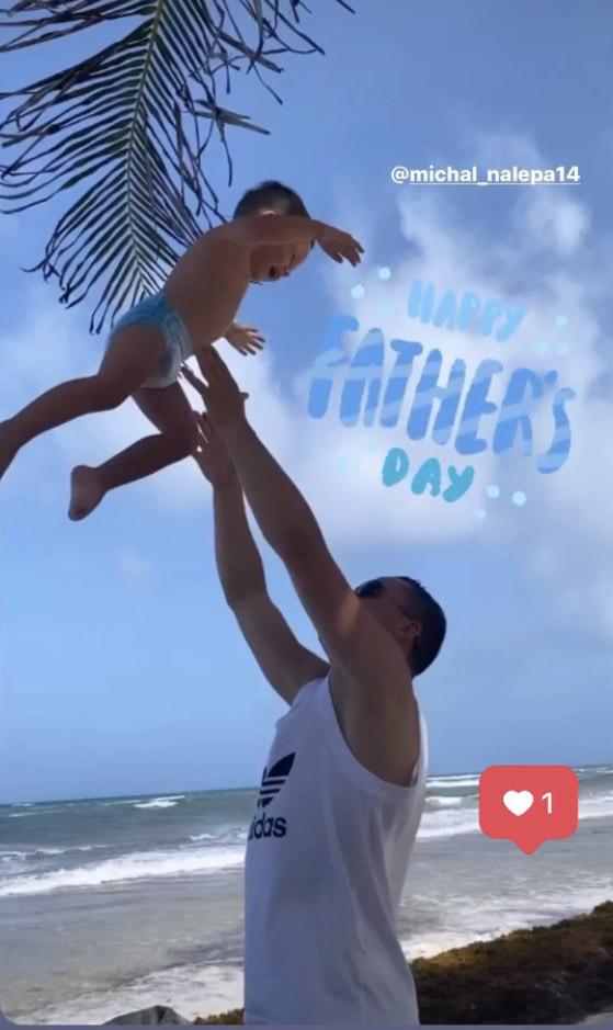 Wychowanek Arki Gdynia, Michał Nalepa obchodzili Dzień Ojca na wakacjach w Meksyku.