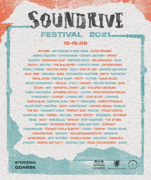 Line-up festiwalu Soundrive.