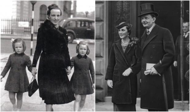Cecylia Raczyńska z mężem oraz córkami.