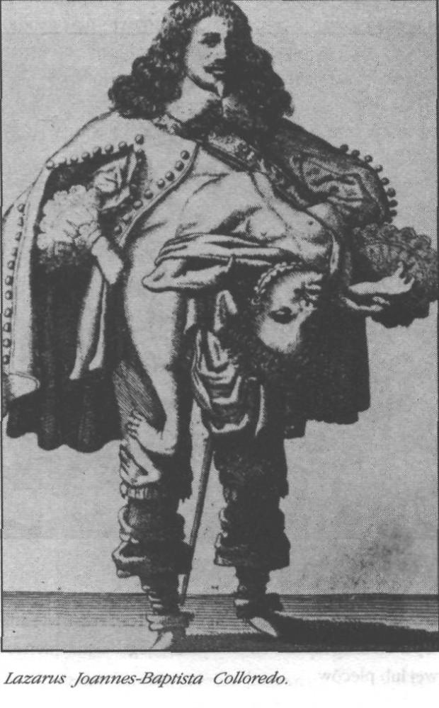 """Lazarus Joannes-Baptista Colloredo, urodzony w 1617 roku, miał - jak opisał badający go lekarz - """"małego brata, wystającego mu z klatki piersiowej, rosnącego - jak wszystkie takie pasożyty - z tą samą szybkością co gospodarz, choć znacznie od niego mniejszego""""."""