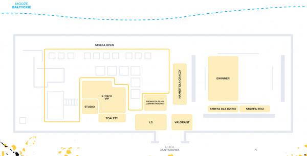 Mapa wydarzenia na Lotos Stadionie Letnim w Brzeźnie.