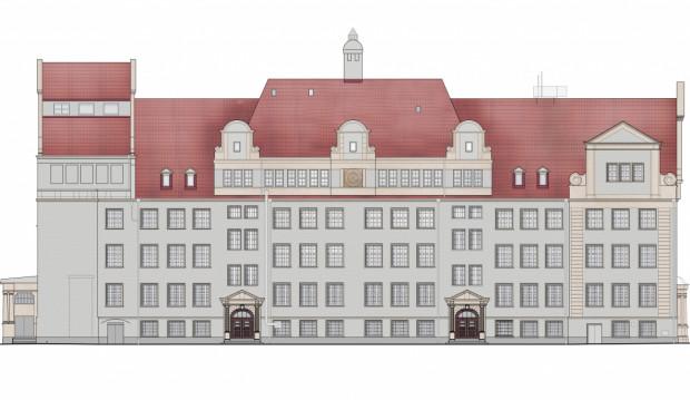 Tak będzie prezentowała się fasada budynku szkolnego przy ul. Głębokiej 11, po zakończeniu remontu.