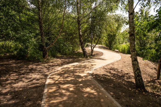 Dotychczas na terenie Multiparku udało się częściowo wybudować ścieżki rekreacyjne.