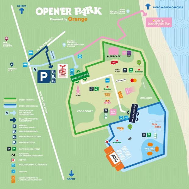 Mapa Opener parku.