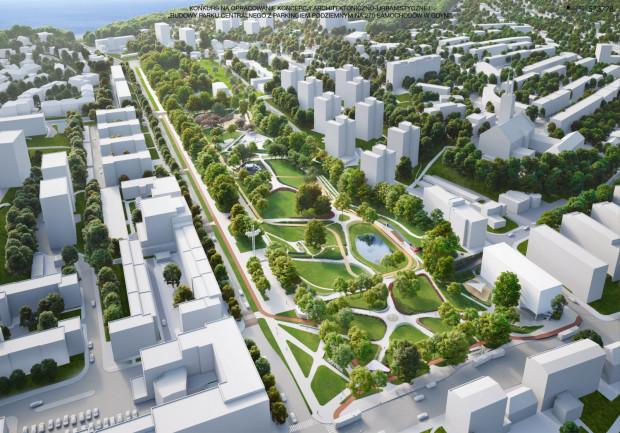 Tak ma wyglądać park Centralny po zakończeniu budowy trzeciego etapu.