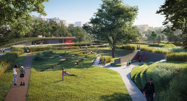 Za projekt całości parku Centralnego odpowiada pracownia Arch Deco. Na wizualizacjach elementy trzeciej części inwestycji.