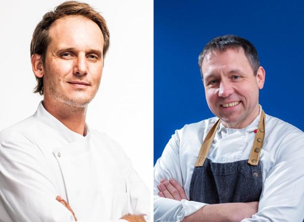 Gośćmi specjalnymi Pomorskich Smaków będą kucharze Pascal Brodnicki (z lewej) i Piotr Lisakowski (z prawej).