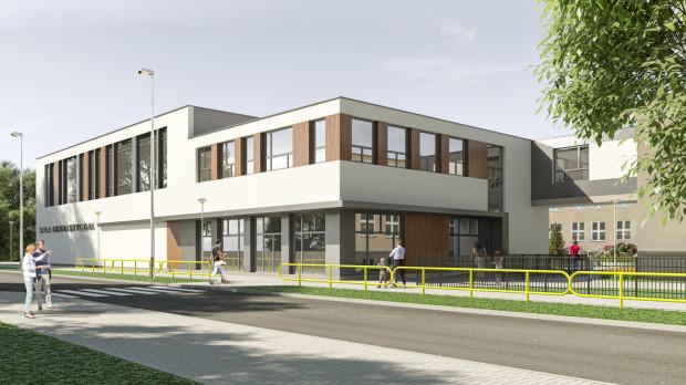 Nowy budynek i zmiany w szkole zaprojektowała gdyńska pracownia CKK Architekci.