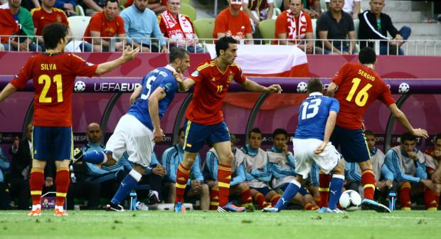 Mecz Włochy-Hiszpania był jednym z hitów fazy grupowej Euro 2012.