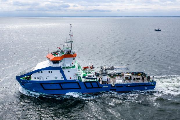 Wielozadaniowy statek Zodiak II jest eksploatowany przez administrację morską w Gdyni.