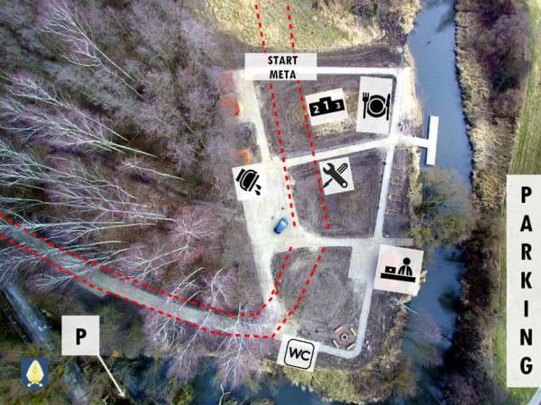 Mapa miasteczka zawodów