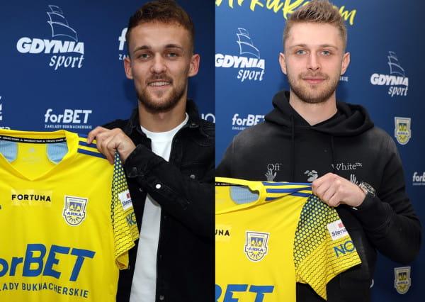 Arka Gdynia rozpocznie sezon bez dwóch nowych piłkarz. Sebastian Milewski (z lewej) leczy kontuzję kolana. Natomiast Hubert Adamczyk (z prawej) zmagał się z urazem mięśniowym.