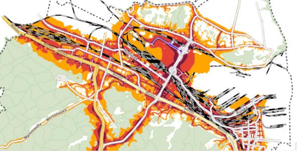 Największy hałas drogowy w Gdyni generuje ul. Morska, estakada i obwodnica.