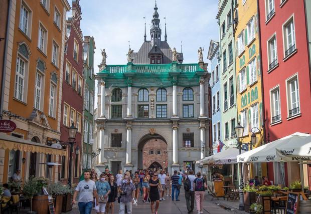 """Złota Brama to wizytówka Gdańska, która """"strzeże"""" wejścia na Trakt Królewski, czyli ul. Długą i Długi Targ."""