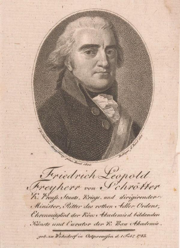 Friedrich Leopold Reichsfreiherr von Schrötter na rycinie z epoki.