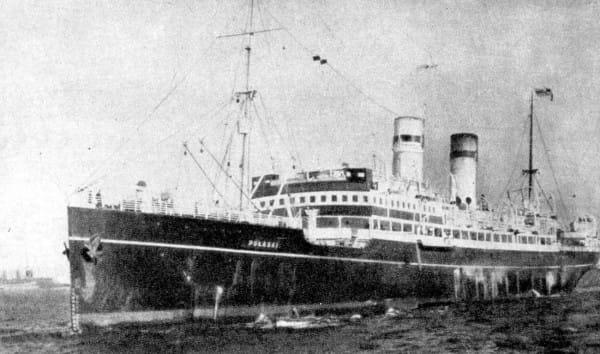 """SS """"Pułaski"""" - polski statek pasażerski (1912-1949), wcześniej pływający jako """"Car"""" oraz """"Estonia""""."""
