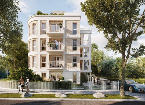 Apartamentowiec w Sopocie przy ulicy Przy Wydmach to zaledwie cztery lokale mieszkalne. Kolor elewacji ma nawiązywać do piasku na pobliskiej plaży.