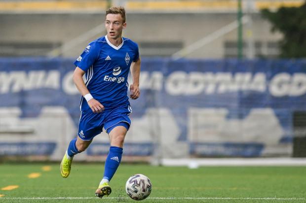 Mateusz Gułajski (na zdjęciu) strzelił gola dla Bałtyku Gdynia w 89. minucie. Jego śladem podążył Mikołaj Kośnik, który zdołał wyrównać 2 minuty później.