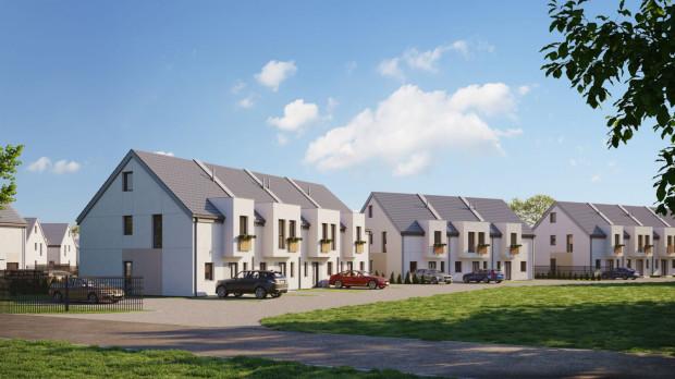 Arkadia to nowe osiedle niewielkich domów w zabudowie szeregowej, które powstawać zaczyna w Bąkowie.