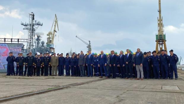 Podpisanie umowy w Stoczni Marynarki Wojennej w Gdyni.