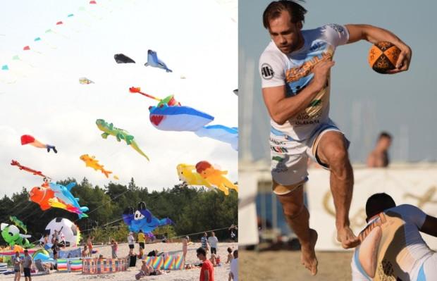 Festiwal Latawców i IX Sopot Beach Rugby od 30 lipca do 1 sierpnia, czyli plażowe atrakcje dla wszystkich chętnych dla uświetnienia 120-lecia miasta.