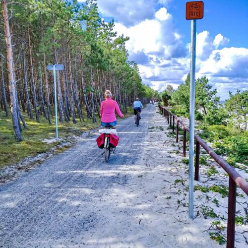 Wyprawa rowerowa trasą R10 przez Mierzeję Wiślaną.