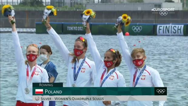 Polskie wioślarki na podium igrzysk olimpijskich w Tokio.