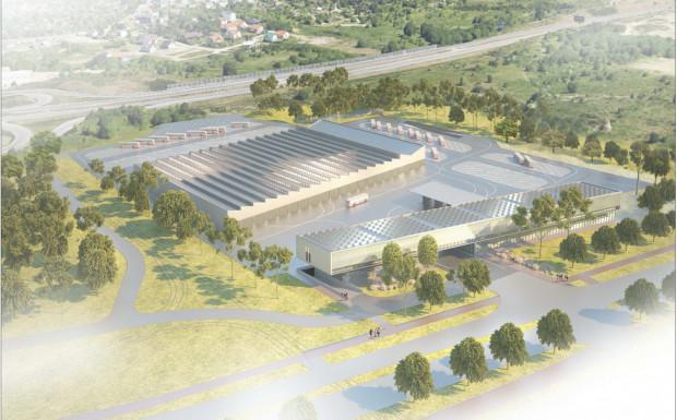 Wstępna koncepcja nowej zajezdni na Ujeścisku. Jej ostateczny kształt poznamy, gdy gotowy będzie projekt.