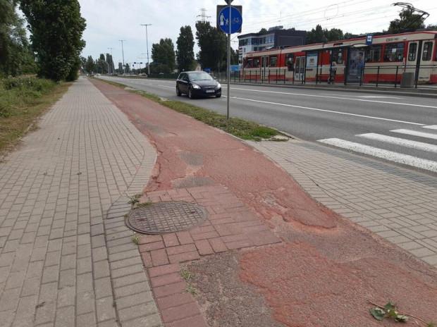 Droga rowerowa zostanie wyremontowana na odcinku ul. Marynarki Polskiej od ul. Żaglowej do ul. Reja.