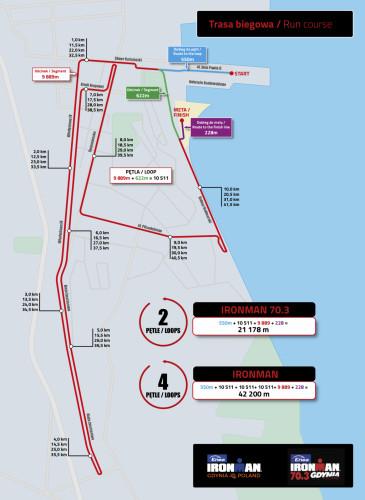 Enea Ironman Gdynia i Ironman Gdynia 70.3. Trasa biegowa.