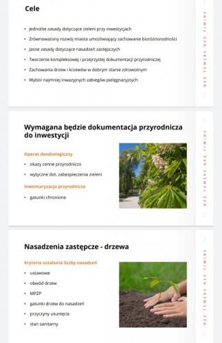 Prezentacja miasta nt. nowych przepisów.
