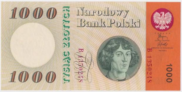 Banknot wydany z okazji obchodów Tysiąclecia Państwa Polskiego.