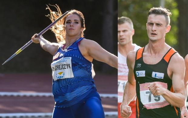 Dawid Tomala (z prawej) został mistrzem olimpijskim w chodzie na 50 km, a Maria Andrejczyk (z lewej) zdobyła wicemistrzostwo w rzucie oszczepem.