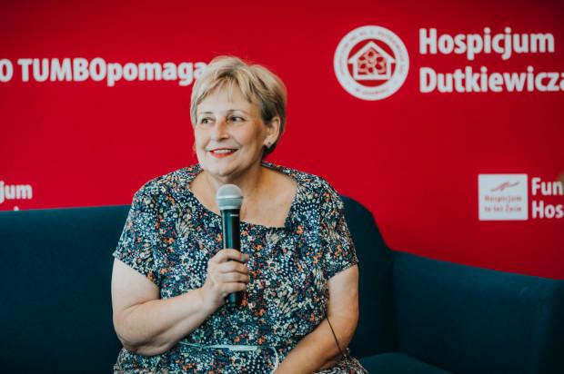 Głównym gościem spotkania była Krystyna Przybylska - matka zmarłej aktorki, Anny Przybylskiej, byłej podopiecznej Hospicjum im. ks. Dutkiewicza.