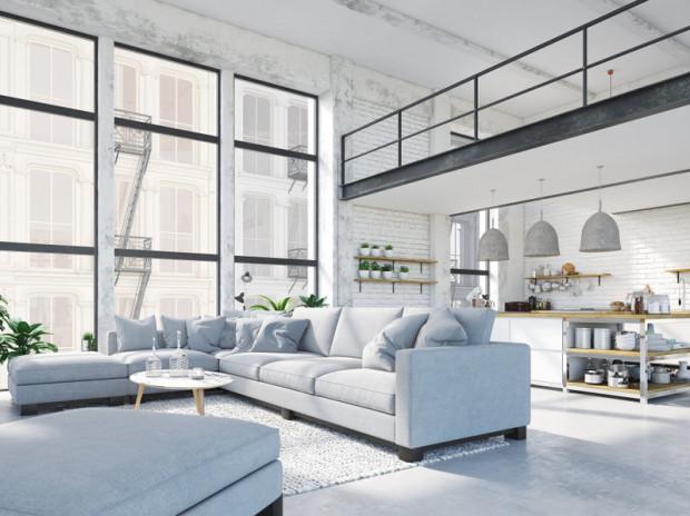 Styl loftowy kojarzy się z przestronnością, dużymi oknami i światłem.