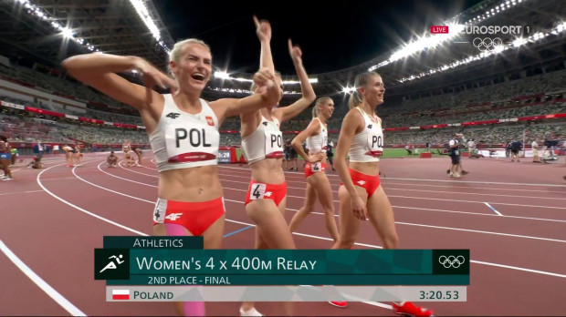 Kobieca sztafeta 4x400 ze srebrem igrzysk olimpijskich.