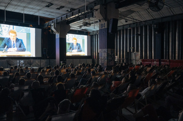 """Podczas seansu poświęconego programowi """"997"""" widzowie obejrzeli m.in. fragmenty specjalnego odcinka z ekranowym Porucznikiem Borewiczem."""
