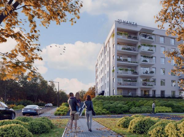 Blue by Hanza przy ulicy Budapesztańskiej będzie miała pięć pięter i dostępny dla mieszkańców taras.