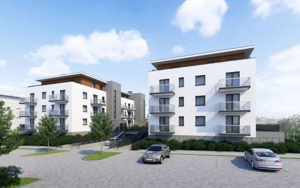Dwa budynki inwestycji Myśliwska 24 posadowione będą na wspólnej hali garażowej. Ich powstanie oznacza, że działki przy zbiegu ulic Piekarniczej i Myśliwskiej zostaną ostatecznie zagospodarowane.