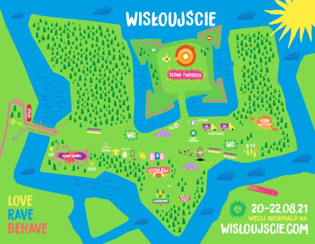 Mapa festiwalu.