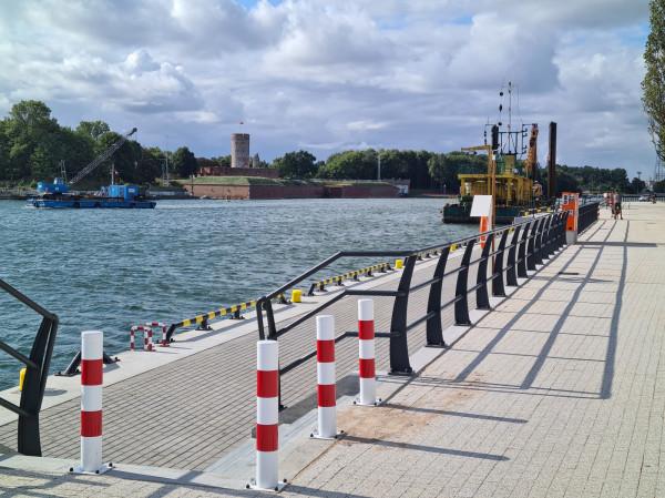 Po trzech latach budowy gotowy jest już nowy fragment nabrzeża Zbożowego w Nowym Porcie.
