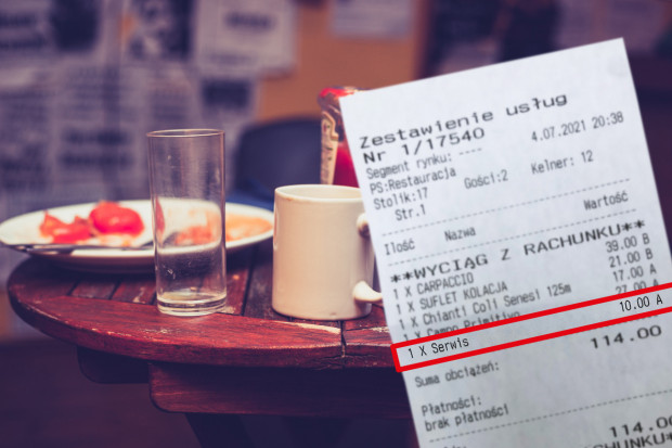 Obsługa większych zamówień wymaga wzmożonej pracy, dlatego coraz więcej restauracji decyduje się na wprowadzenie obowiązkowej opłaty za serwis.