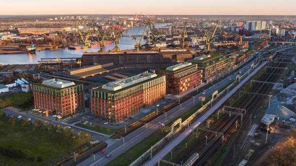Pierwsze dwa budynki biurowe kompleksu Palio mają podobną architekturę. Kolejne będą z nimi korespondować , ale nie będą ich naśladować.