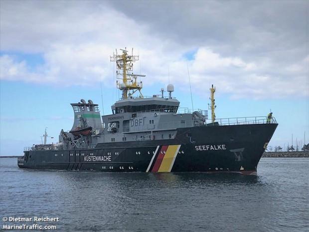 """PGZ Stocznia Wojenna wyremontuje okręt """"Seefalke"""" niemiecki patrolowiec ochrony rybołówstwa."""